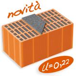 Monoblocco portante per murature perimetrali impiegabili per costruzioni in zona sismica.